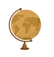 Planet earth - ancient school globe on stand vector image vector image