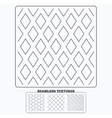 Rhombus hexagon and grid with circles textures vector image vector image