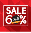 Sale Uo To 60 Percent Banner vector image vector image