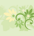 seamless green floral wallpaper vector image vector image