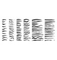 set grunge artistic brush strokes brushes vector image