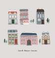 set hand drawn colorful old houses real estate vector image
