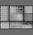 set of black and white patterns vector image vector image