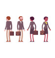 set of male and female teacher standing rear vector image vector image