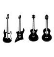 set rock guitars design element for poster vector image