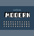 shadow bold font and alphabet modern typeface vector image vector image