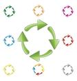 signs recycling arrows vector image vector image