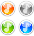 Sound buttons vector image vector image