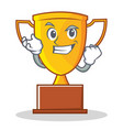 successful trophy character cartoon style vector image