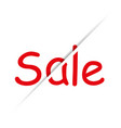 text sale unusual background white beautiful and vector image