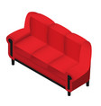 trendy isometric red sofa 3d furniture for vector image vector image