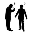 two businessmen arguing vector image vector image