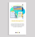 wealth management infocharts and analytics vector image