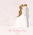 wedding dancing couple background - invitation vector image