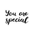 you are special text brush calligraphy vector image vector image