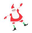 cartoon dancing santa claus vector image