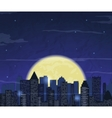 Night city skyline Abstract background Modern vector image