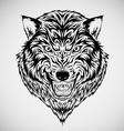 Tribal Wolf Head Tattoo vector image