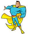 Big Chin Superhero vector image