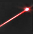 abstract red laser beam transparent isolated on vector image vector image