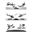 Air transportation set vector image vector image