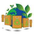 bag green world concept vector image