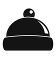 beanie hat icon simple style vector image vector image
