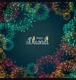 beautiful fireworks background for diwali festival vector image vector image