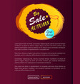best choice sale autumn hanging round promo label vector image vector image