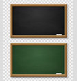 blackboard realistic green and black chalkboard vector image