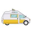 camping trailer icon summer transportation vector image vector image