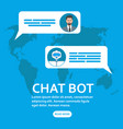 chatbot and future marketing concept vector image