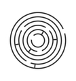 Circle Ring Maze on White Background vector image