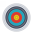 Classic archery target vector image