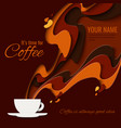 coffee menu background vector image vector image