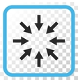 Compact Arrows Icon In a Frame vector image vector image