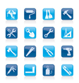 construction work tool icons vector image vector image