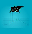 controlling graphic chart vector image vector image