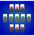 Counter Big Win Slots Brain symbol vector image
