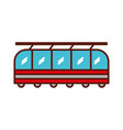 cute train cartoon vector image