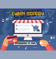 cyber monday design flat vector image