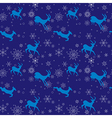 dark blue seamless christmas pattern with goats vector image