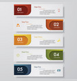 design clean number banners template vector image vector image