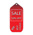 discount tags icon with price vector image vector image