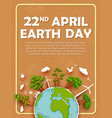 earth day concept for safe and green globe vector image vector image