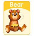 educational english word card bear vector image