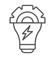 energy bulb icon outline style vector image