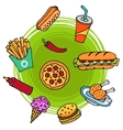 Fast Food Doodle vector image vector image