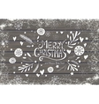 Greeting card with Merry Christmas hand lettering vector image vector image