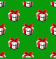 hand drawn gift box christmas box sketch seamless vector image vector image